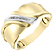 9ct Gold Two Colour Diamond Set Ring - Product number 4369475