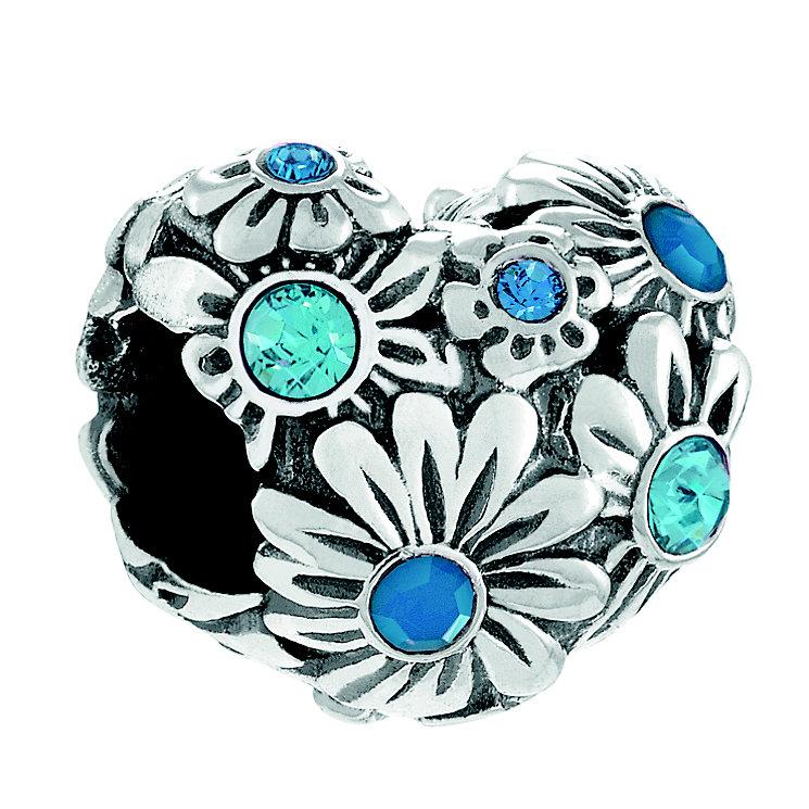 Chamilia Silver Blue Tone Swarovski Zinnia Heart Bead - Product number 4370260