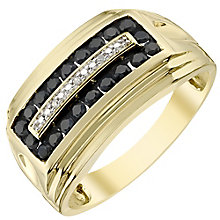 9ct Gold Diamond & Black Sapphire Ring - Product number 4370546