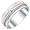 Sterling Silver & 9ct Rose Gold Diamond Set Ring - Product number 4371097