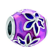 Chamilia Sterling Silver & Enamel Pink Orchid Bead - Product number 4371526