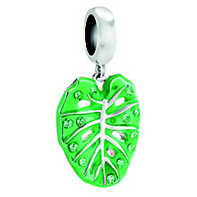 Chamilia Sterling Silver & Enamel Palm Frond Charm Bead - Product number 4372077
