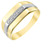 9ct Gold Diamond Set Rectangular Signet Ring - Product number 4373022