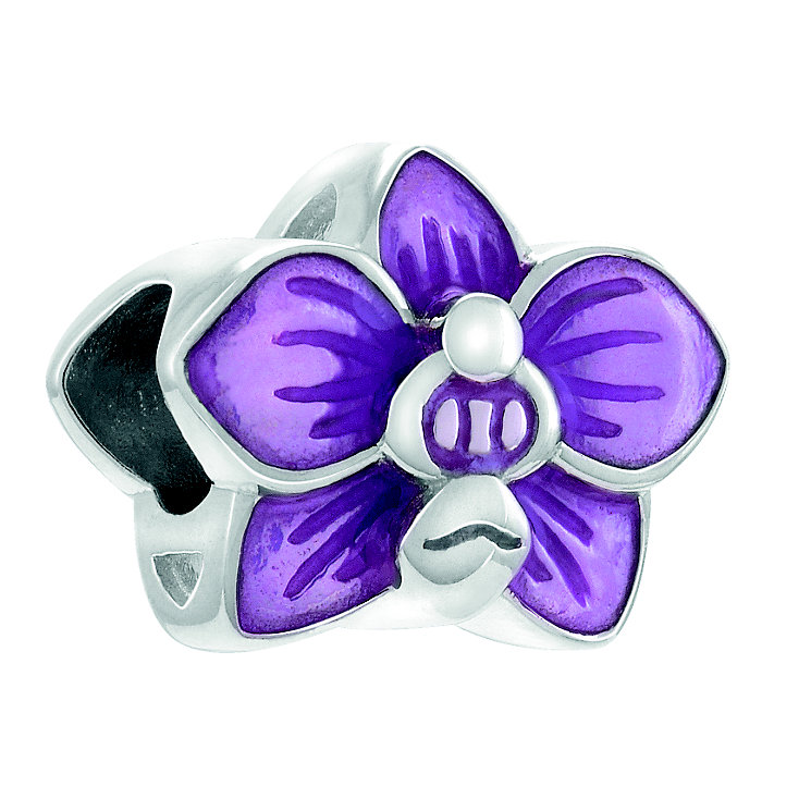 Chamilia Slipper Orchid Sterling Silver & Pink Enamel Bead - Product number 4373553