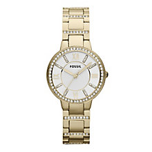 Fossil Virginia Ladies' Gold Tone Stone Set Bracelet Watch - Product number 4373731