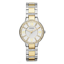 Fossil Ladies' Two Colour Stone Set Bracelet Watch - Product number 4373766