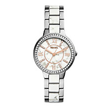 Fossil Ladies' Stainless Steel Stone Set Bracelet Watch - Product number 4373782