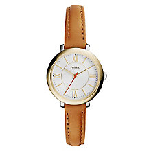 Fossil Jacqueline Ladies' Brown Strap Watch - Product number 4375726