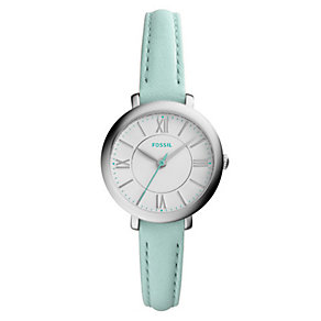 Fossil Jacqueline Ladies' Stainless Steel Green Strap Watch - Product number 4375734