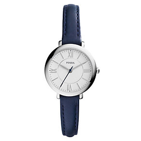 Fossil Jacqueline Ladies' Stainless Steel Blue Strap Watch - Product number 4375742