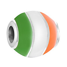 Chamilia Sterling Silver & Enamel Ireland Flag Bead - Product number 4376153