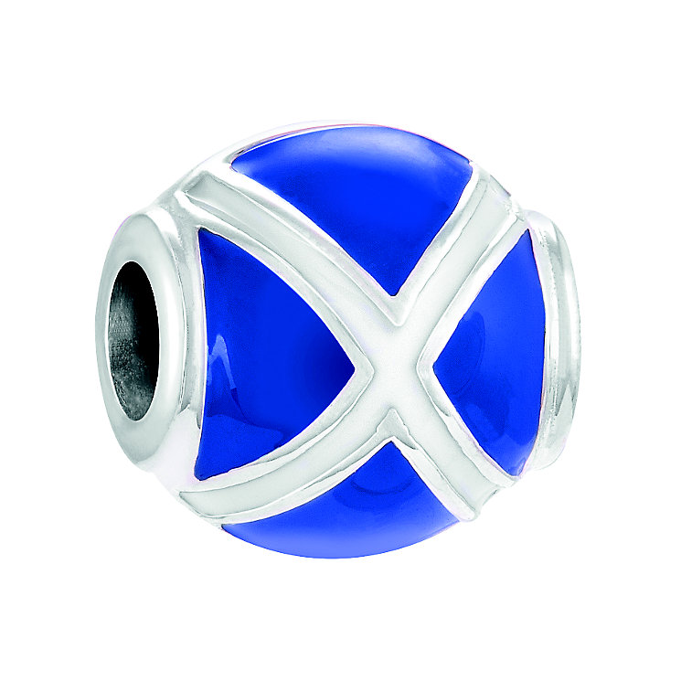 Chamilia Sterling Silver & Enamel Scotland Flag Bead - Product number 4376218