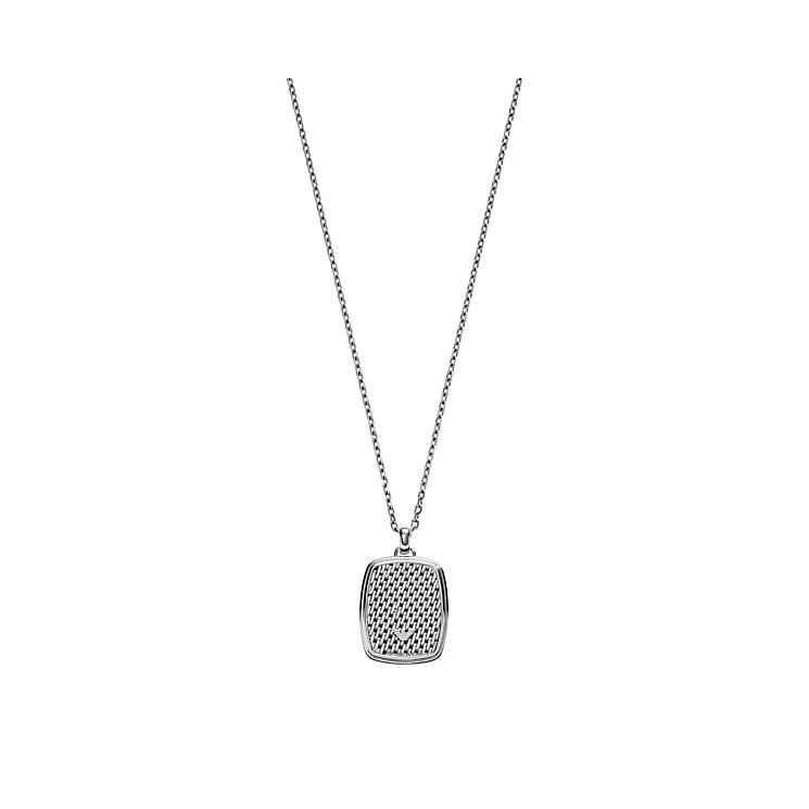 Emporio Armani Men's Stainless Steel Pendant Necklace - Product number 4378385