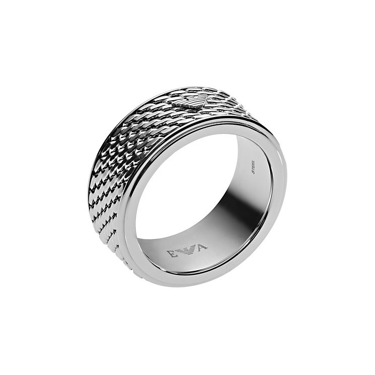 Emporio Armani Men's Stainless Steel Ring U - Product number 4378393