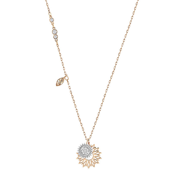 Swarovski Sunflower Rose Gold Plated Pendant - Product number 4378830