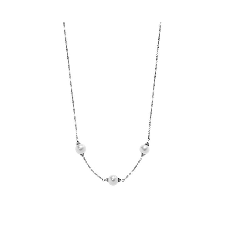 Emporio Armani Sterling Silver And Pearl Necklace - Product number 4378849