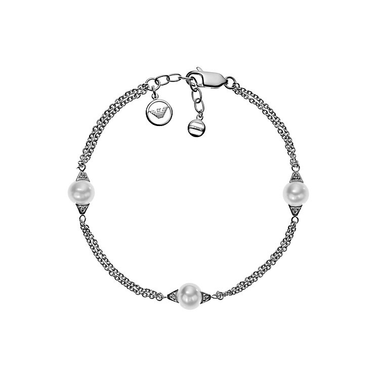 Emporio Armani Sterling Silver And Pearl Bracelet - Product number 4378962