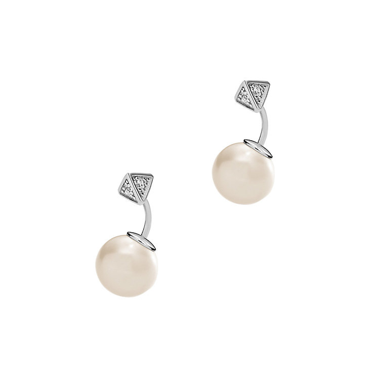Emporio Armani Sterling Silver Pearl Earrings - Product number 4379047