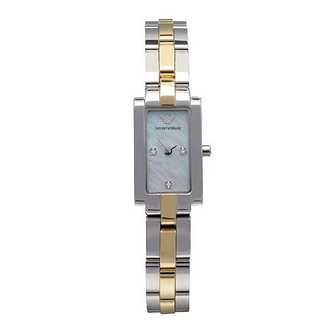 Emporio Armani Donna ladies two-colour diamond watch