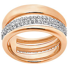 Swarovski Exact Rose Gold Plated Ring Size P - Product number 4379195