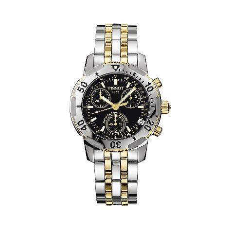 Tissot PRS200 two-colour bracelet chronograph watch