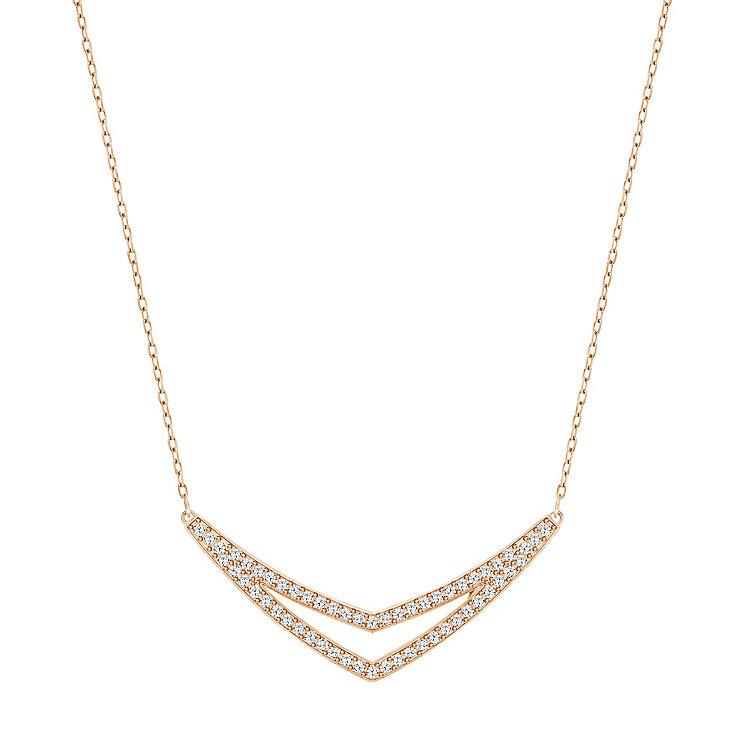 Swarovski Alpha Rose Gold Plated Necklace - Product number 4380231
