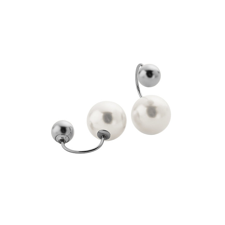 Skagen Agnethe Stainless Steel Faux Pearl Earrings - Product number 4380355