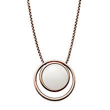 Skagen Sea Glass Rose Gold Tone Pendant - Product number 4380827