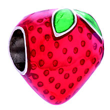 Chamilia Sterling Silver & Enamel Strawberry Bead - Product number 4380908