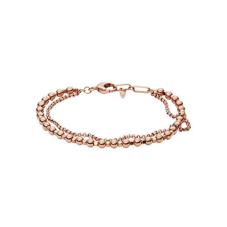 Fossil Rose Gold Tone Stone Set Bracelet - Product number 4380940