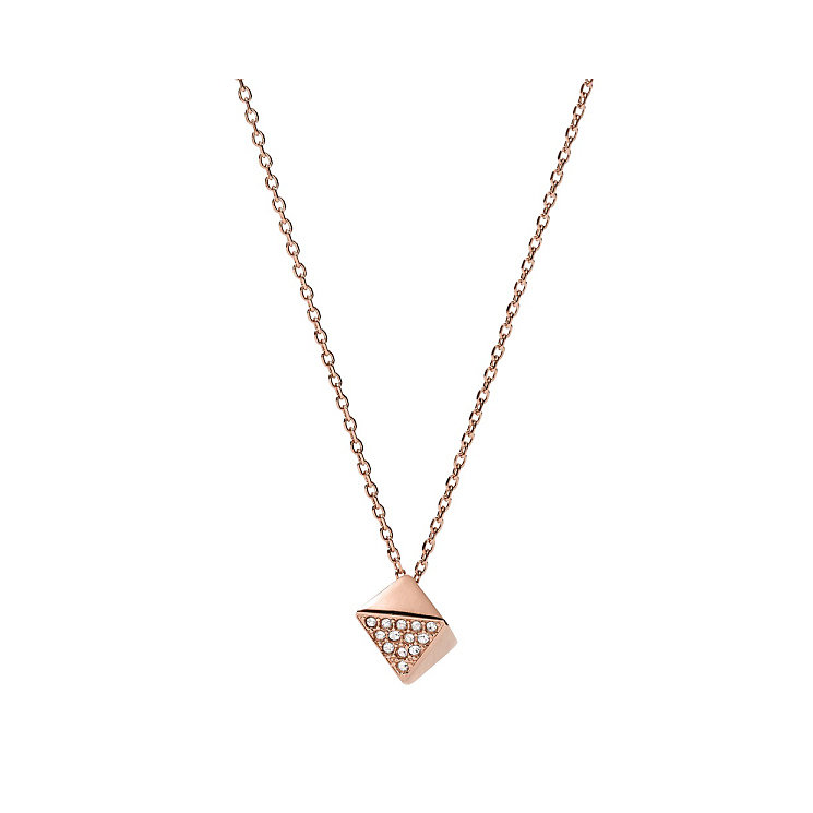 Fossil Rose Gold Tone Stone Set Necklace - Product number 4381009