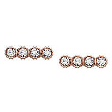 Fossil Iconic Rose Gold Tone Stone Set Earrings - Product number 4381017