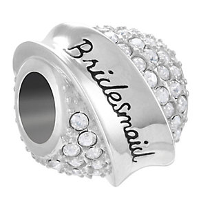 Chamilia Sterling Silver Swarovski Bridesmaid Banner Bead - Product number 4381262