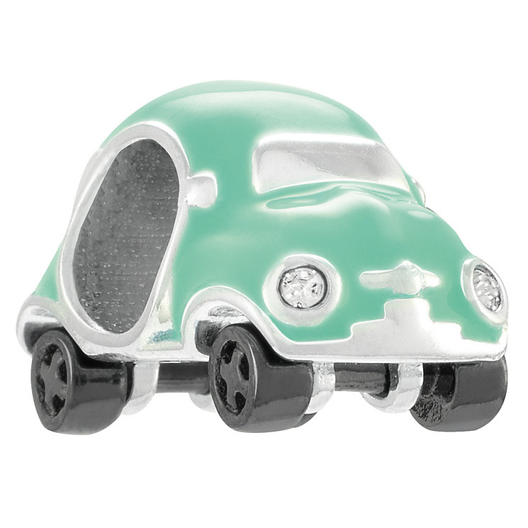 Chamilia Mini Racer Sterling Silver & Mint Enamel Bead - Product number 4383168