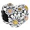 Chamilia Silver Yellow Tone Swarovski Zinnia Heart Bead - Product number 4383192