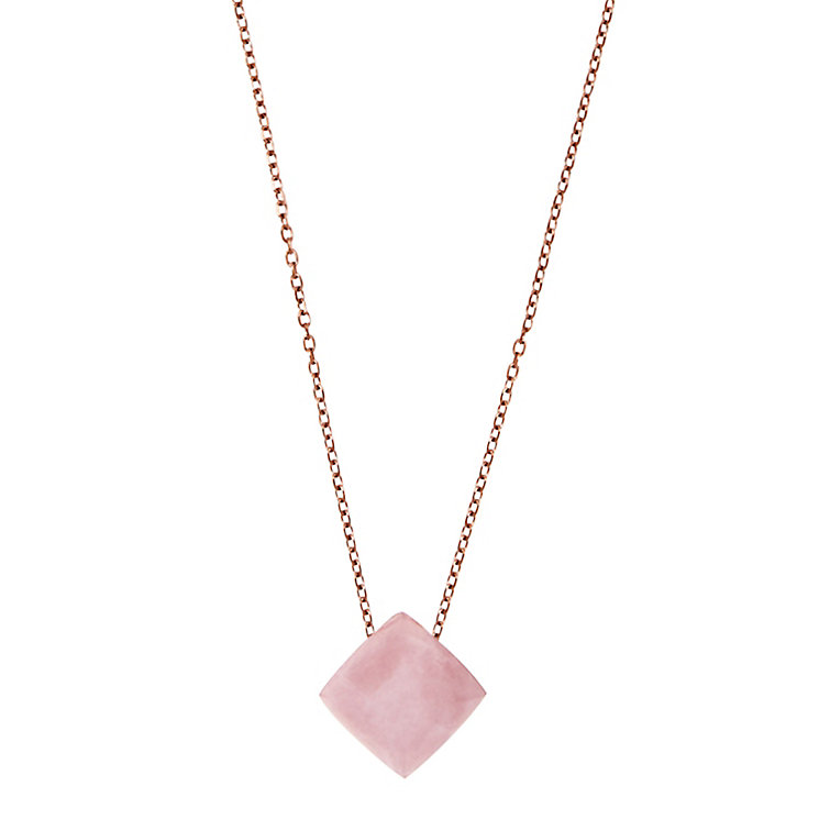Michael Kors Rose Gold Tone Semi-Precious Stone Necklace - Product number 4384849