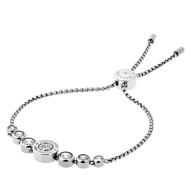Michael Kors Logo Stainless Steel Crystal Bracelet - Product number 4385101