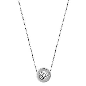 Michael Kors Logo Stainless Steel Crystal Necklace - Product number 4385144