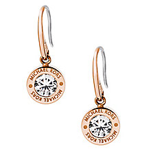 Michael Kors Logo Rose Gold Tone Crystal Earrings - Product number 4385152