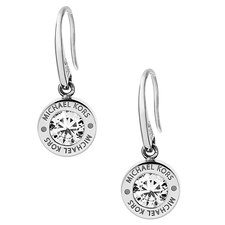 Michael Kors Logo Stainless Steel Crystal Earrings - Product number 4385160