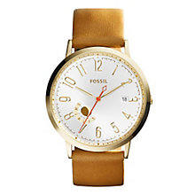 Fossil Vintage Muse Ladies' Gold Tone Strap Watch - Product number 4385292
