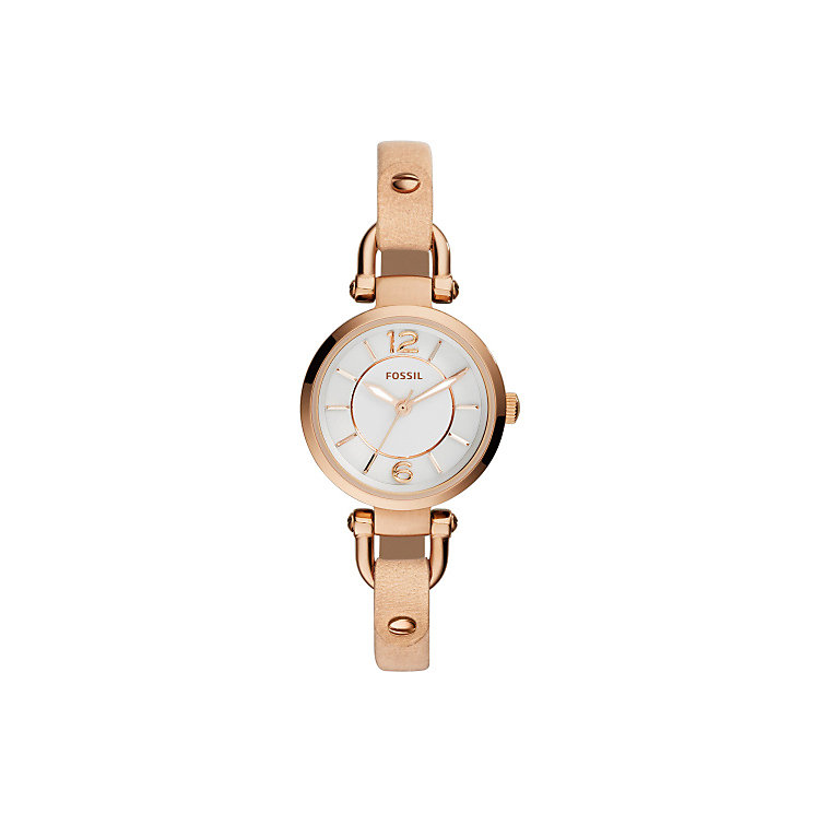 Fossil Georgia Ladies' Rose Gold Tone Strap Watch - Product number 4385314