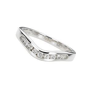 18ct white gold quarter carat diamond wedding ring - Product number 4391845