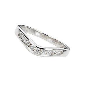 18ct white gold quarter carat diamond wedding ring - Product number 4391845