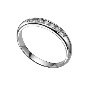 Platinum a quarter carat diamond wedding ring - Product number 4391985