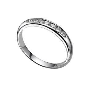 Platinum a quarter carat diamond wedding ring - Product number 4391985
