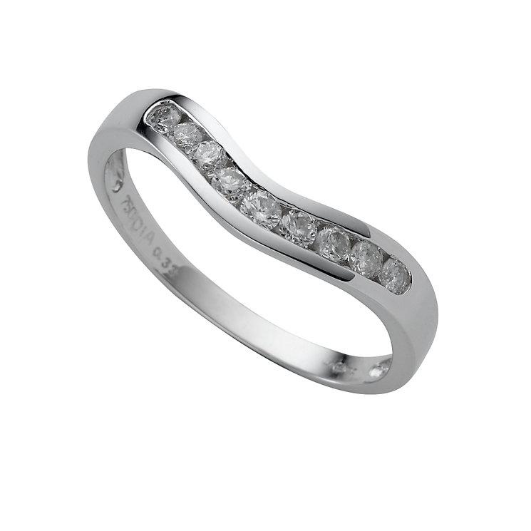 18ct white gold third carat diamond wedding ring - Product number 4392248