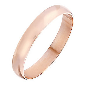Ladies' 9ct Rose Gold 3mm Heavy D Shape Plain Band - Product number 4395395