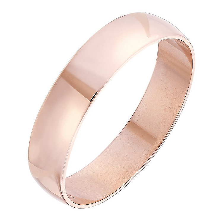 Ladies' 9ct Rose Gold 4mm Heavy D Shape Plain Band - Product number 4395883