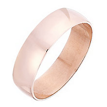 Men 9ct Rose Gold 5mm Heavy D Shape Plain Band - Product number 4396758
